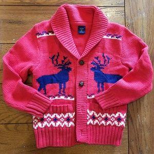 Euc sz 5 gap moose cardigan sweater